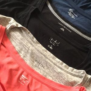 5 tees various colors xl used